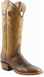 Lucchese-M3098-Mens-Natural-Oiled-Tan-Leather-Western-Cowboy-Boots