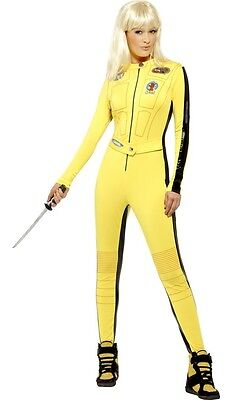 Damen Sexy Kill Bill Film Ninja Assassin Halloween Kostüm Kleid Outfit
