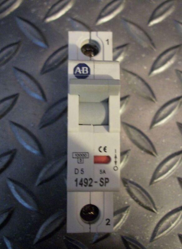 Allen-Bradley 1492-SP1D050 Circuit Breaker, 5A, 1 Pole,277 VAC 48 VDC