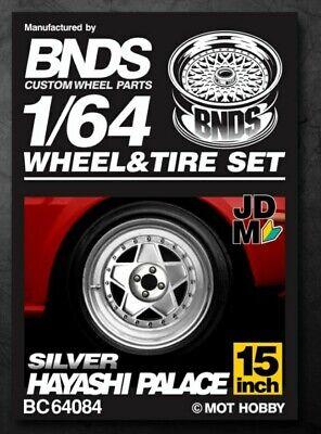 Custom BNDS 1/64 Scale Wheels &Tire Set Alloy Wheels Rubber Tires