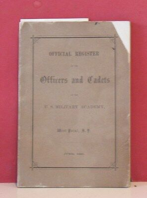 Official Register Officers Cadets-U.S. Military Academy-West Point-1886-Pershing