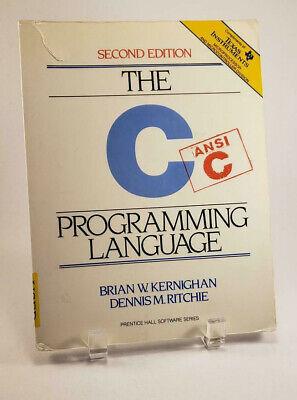 The C Programming Language ANSI C Second Edition 1988 Paperback 0916822141