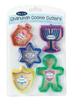 Chanukah Cookie Cutters - Chanukkah Hanukkah - Dreidel/Menorah/Star of David - Hanukkah Cookie Cutters