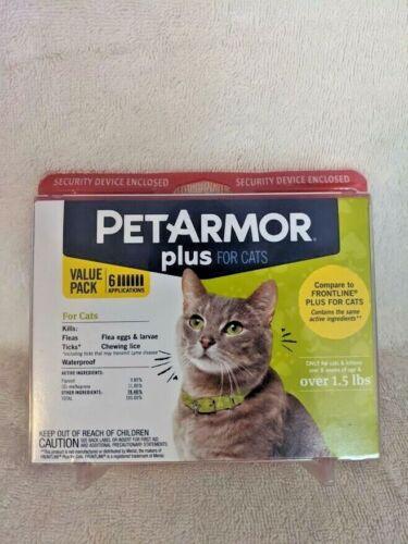 BrandNew Sealed Pet Armor Plus Flea & Tick Cats Treatment 6 month Supply Pack