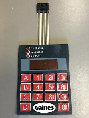 Gaines Vm750a Vending Machine Key Pad Fortune Resources Paramount