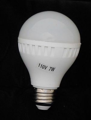 E26 E27 Energy Saving LED Bulb Lights Lamp 7W Cool/Warm White 110V 5pc Bulbs NEW