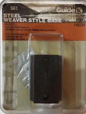 Guide 2 Piece Steel Weaver Style Scope Base S61 148234 Knight Lsa 55 Las 65 Mk85