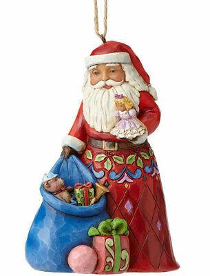 Jim Shore*SANTA w TOY BAG ORNAMENT*New*NIB*Doll*CHRISTMAS*Bear*4055122 ()