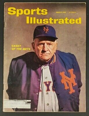 1962 MARCH 5 SPORTS ILLUSTRATED MAGAZINE CASEY STENGEL OF THE NEW YORK METS CS5 1962 Sports Illustrated Magazine