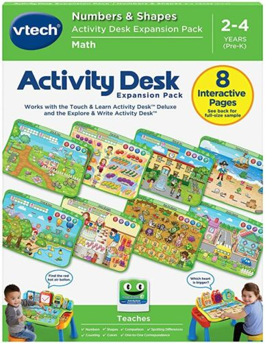 VTech Activity Desk Expansion Pack Numbers & Shapes (English Version)