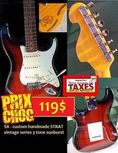 DERNIER JOUR PAS DE TAXES Guitare Électrique usagée super propre SX handmade custom vintage series ET +