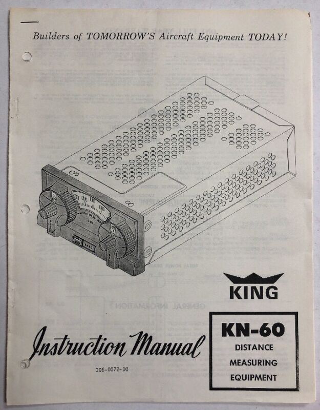 King KN-60 Distance Measuring Equipment Instruction Manual