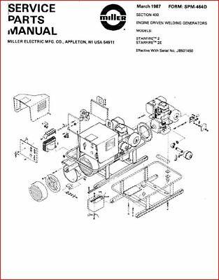 Miller Starfire 2 2e Service Parts Manual Eff W Jb501450
