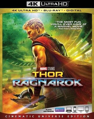 Thor  Ragnarok 4K Uhd 4K  Used  Blu Ray Only Disc Please Read