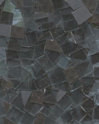 Hand Cut GRAY Stained Glass Mosaic Scrap Pack, 100 PIECES