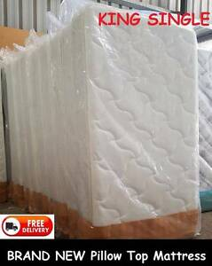 BRAND NEW King Single Size Pillow Top Mattress DELIVERED FREE New Farm Brisbane North East Preview