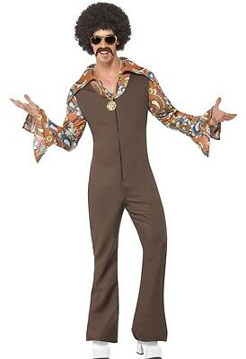 Mens 1970s Dance Fever 70s Decades Celebrity Fancy Dress Costume Outfit M-L-XL (Decades Outfits)