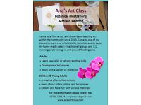 Art Classes 1:1 or in Group