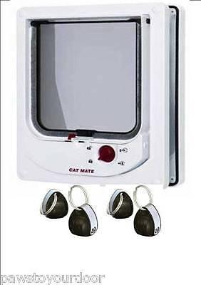 Petmate 254w Cat Mate Elettromagnetica Gatto Domestico Porta 4 Vie Bloccaggio