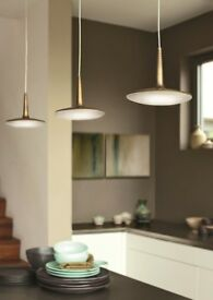 Philips Attilio triple pendant dining table LED light