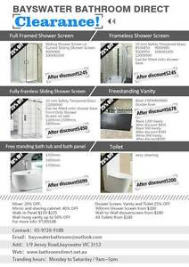 CLEARANCE! Bath tubs,shower screens,vanities,toilets @Bayswater Bayswater Knox Area Preview