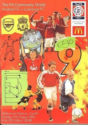 FA COMMUNITY SHIELD 2002: Arsenal v Liverpool