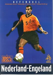 HOLLAND v England (Friendly International) 2002