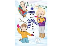 Christmas Cards for businesses or families - Illustration - Cartoon
