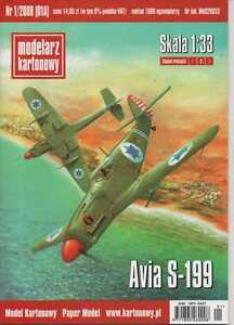 1:33 scale- Israeli fighter Avia S-199 - Paper Model -English instruction! - Reda, Polska - Zwroty są przyjmowane - Reda, Polska