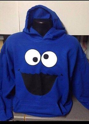 COOKIE MONSTER HOODED TOP HOODIE HOODY SEASAME STREET HOODIE UNISEX ALL (Cookie Monster Hoodie)