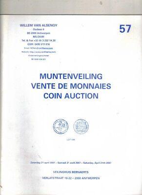 Boekje ,Willem van Alsenoy ,Muntenveiling ,Vente de Monnaies Coin Auction Nr 57