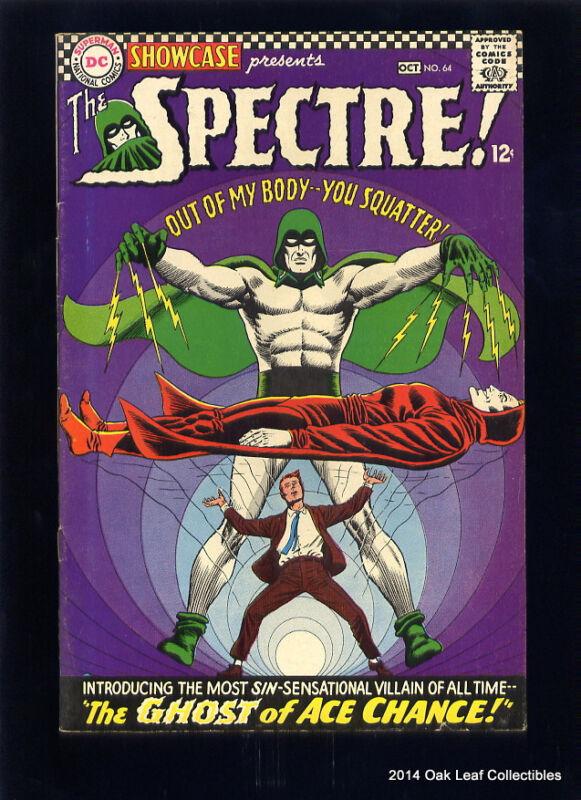 Showcase 64 DC Comic Book 1966 F-VF Spectre