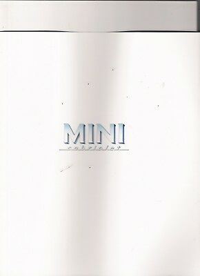 MINI CABRIOLET Unusual Brochure jm