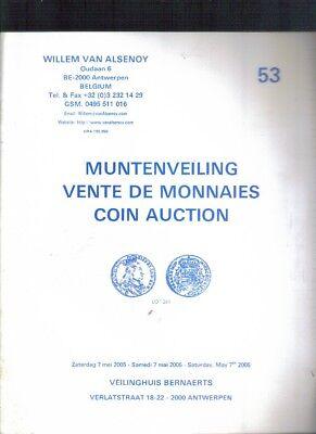 Boekje ,Willem van Alsenoy ,Muntenveiling ,Vente de Monnaies Coin Auction Nr 53