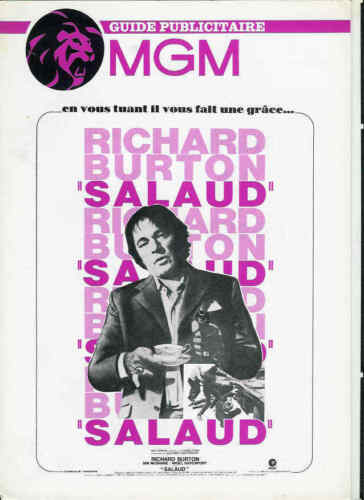 RICHARD BURTON French Pressbook MGM SALAUD /  VILLAIN