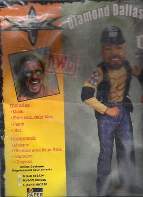 Diamond Dallas Page 1999 Vintage Halloween Costume WCW Wrestling Medium MIP - Wcw Halloween Costumes