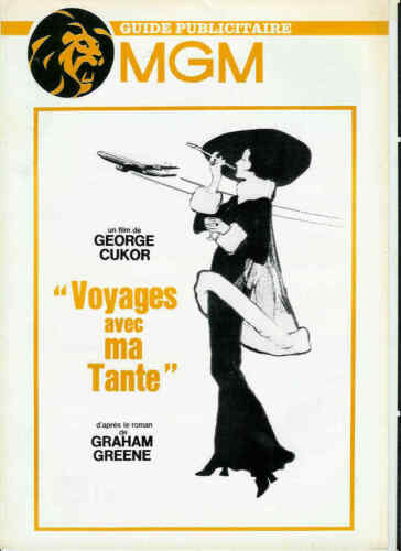 Georges CUKOR Maggie SMITH Robert STEPHENS pressbook MGM TRAVEL WITH MY AUNT