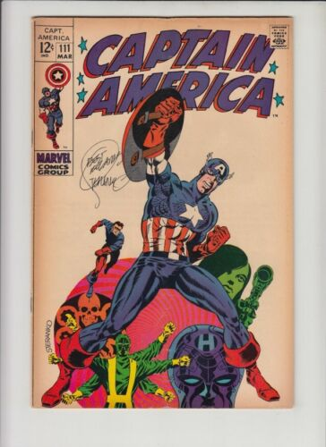 CAPTAIN AMERICA #111 VG/FN SIGNED BY STERANKO!!