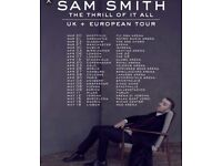 2 Sam Smith Concert Tickets Manchester Lower Tier