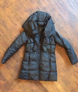 Jacob Winter Coat (amazing hood!) & Garage pleather jacket