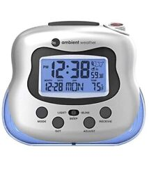 Ambient Weather RC-8370 Radio Controlled Projection Clock w/ Indoor Temperature