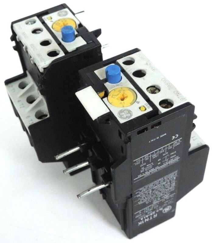 LOT OF 2 GENERAL ELECTRIC RTN1K THERMAL OVERLOAD RELAY IE = 2.5-4.1A