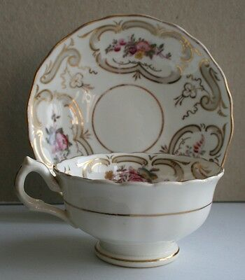 Victorian Staffordshire Tea cup & saucer Hand painted Pattern No 2/164