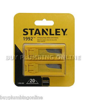 Stanley Knife Blades Heavy Duty 1992B (2 Packs of 10) 198460