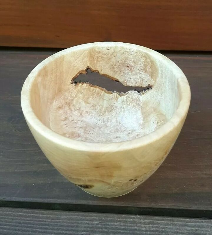 Cascara Burl Bowl, Reclaimed Wood, Dovecote Woodworking