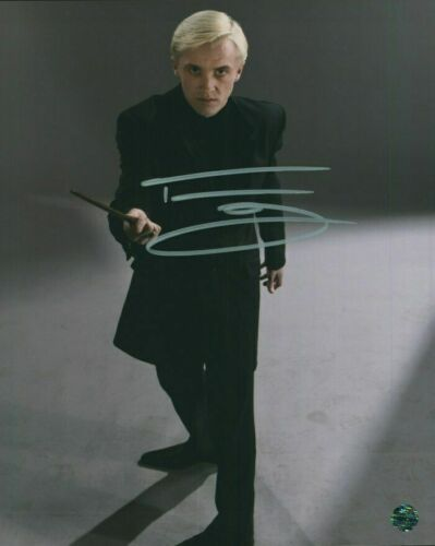 Tom Felton 8 x 10 Autographed Photo - Drako Malfoy in Harry Potter - REPRINT