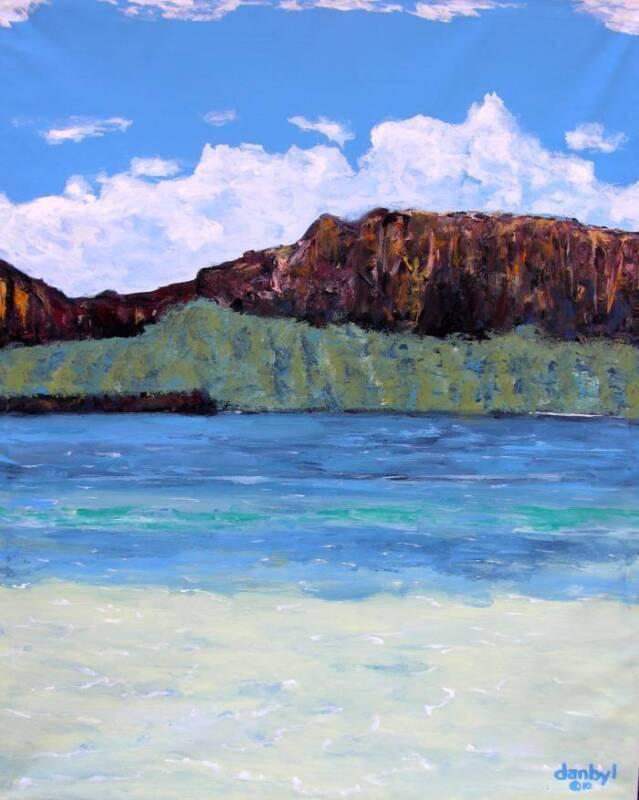 Ocean Beach Seascape Original Art Painting Dan Byl Contemporary Large 4x5 Feet