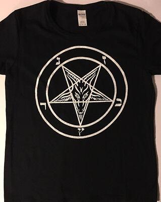 PENTAGRAM Ladies T shirt Satanic clothing satan witch witchcraft SATANISM  goth  - Witch Clothing