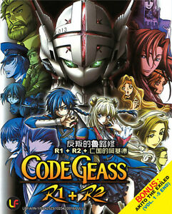 DVD Anime Code Geass R1 + R2 Vol 1-50 End+Special+Akito The Exiled Vol 1-5 End