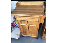 CLEARANCE!!! Moveable wood butcher block !